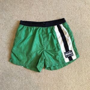 Vintage Polo Sport Trunks. Men's Med